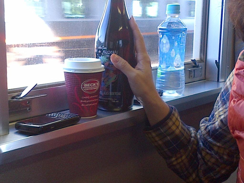 行きの列車にボトルワイン持ち込んだりするわけですよ